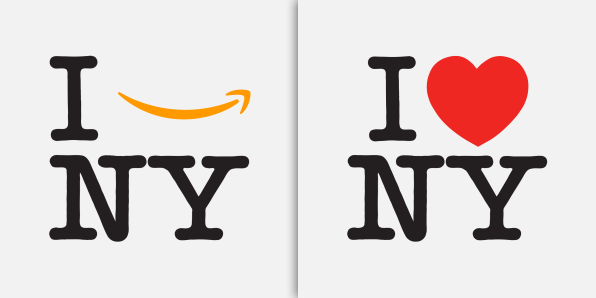 What the designer of 'I love NY' thinks of the 'I Amazon NY' logo | DeviceDaily.com