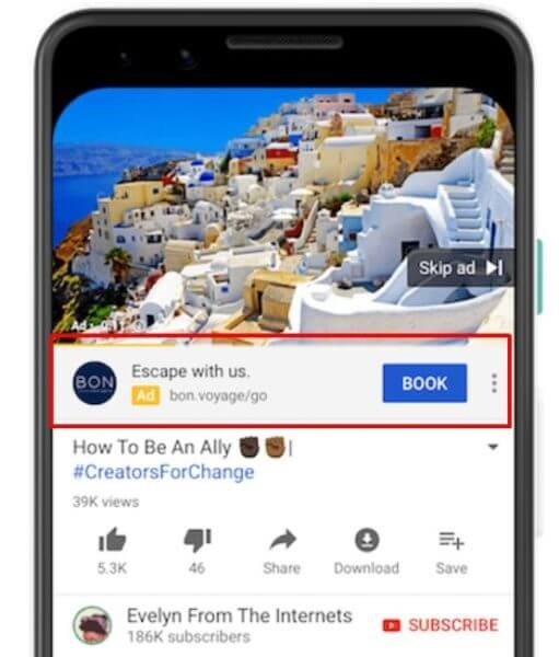 YouTube sunsetting call-to-action overlays in favor of new ad extension