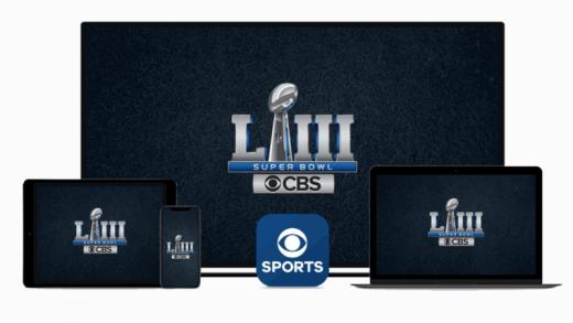 CBS packaging Super Bowl LIII digital stream spots with linear