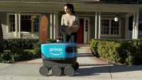 Amazon's little blue delivery robot is roaming around the Seattle suburbs