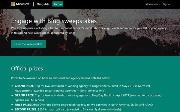 Bing Ads Offers Agencies A Chance To Win Trip, Xbox, Amazon Gift Card | DeviceDaily.com