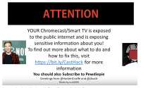Hackers Take Over Google Chromecasts To Promote YouTube Channel