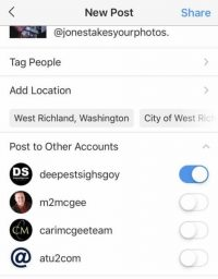 Instagram lets marketers share posts across multiple accounts