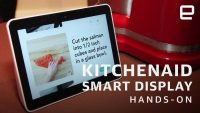 KitchenAid's smart display shrugs off sauce and running water