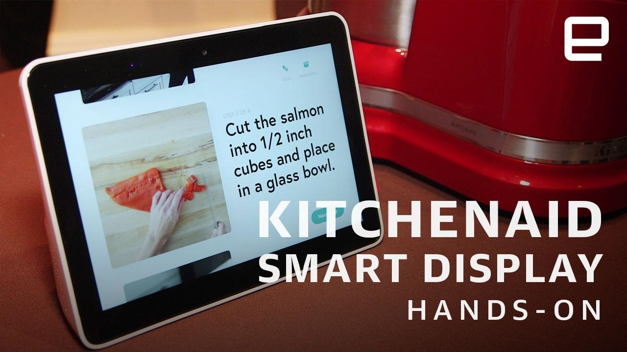 KitchenAid's smart display shrugs off sauce and running water | DeviceDaily.com
