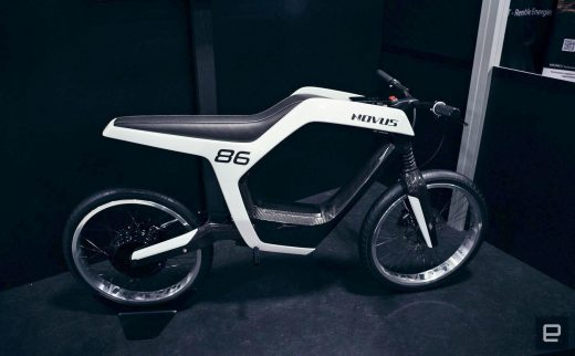 Novus' $35,000 electric motorcycle oozes sinister style
