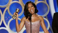 Regina King's acceptance speech is the most poignant moment of the snoozy Golden Globes