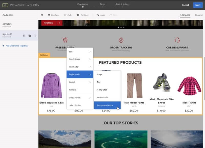 Adobe Target testing tool gets improved personalization capabilities, reports | DeviceDaily.com