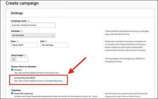 Amazon Business Quietly Expands Ad-Targeting Tests