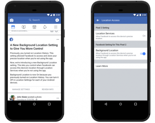 Facebook offers Android users iOS-like control over background location tracking