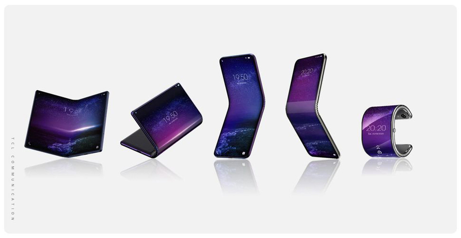 TCL's folding phone projects include a watch-like bracelet | DeviceDaily.com