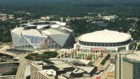 This cool time-lapse map shows Atlanta's Mercedes-Benz Arena replacing the Georgia Dome