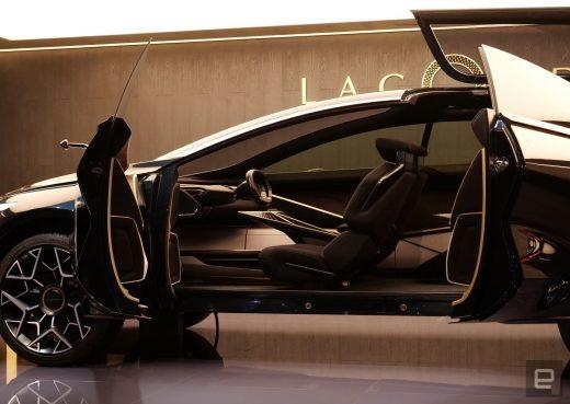 Aston Martin's Lagonda All-Terrain EV suspends its key using electromagnets