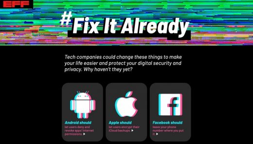 EFF Targets Eight Tech Companies In 'Fix It Already' Campaign