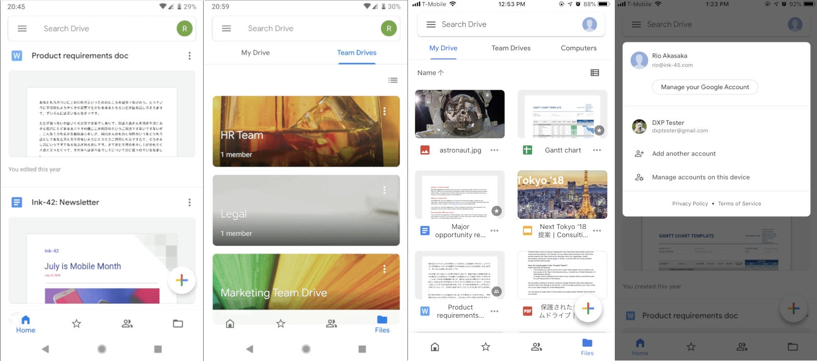 Google Drive apps get a redesign to match its look on the web | DeviceDaily.com