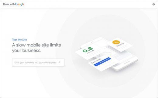 Google Updates Test My Site Speed Tool
