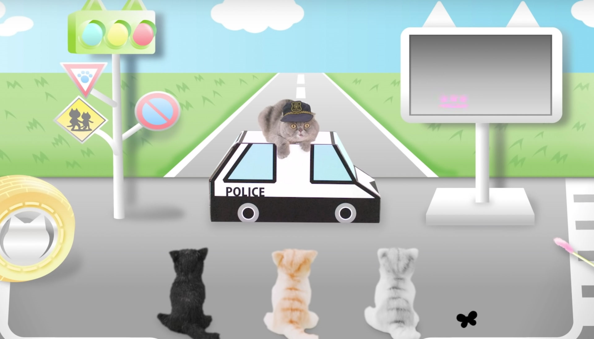 Japanese safety video teaches cats the rules of the road | DeviceDaily.com