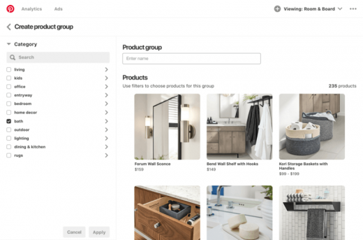 Pinterest makes Shopping Ads self-serve, launches new Catalogs feature