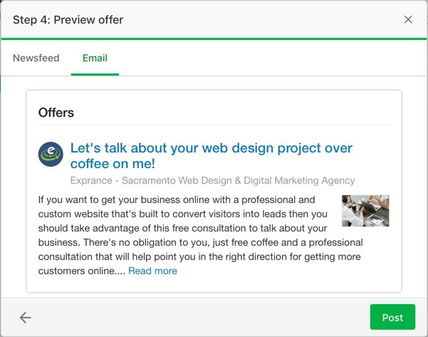 Previewing a Nextdoor Offer in an email before posting. | DeviceDaily.com