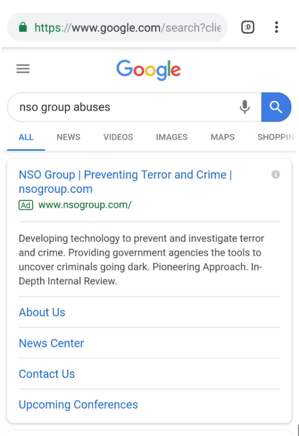 Despite ban on spyware ads, Google shows ads for firm tied to hacking abuses   DeviceDaily.com