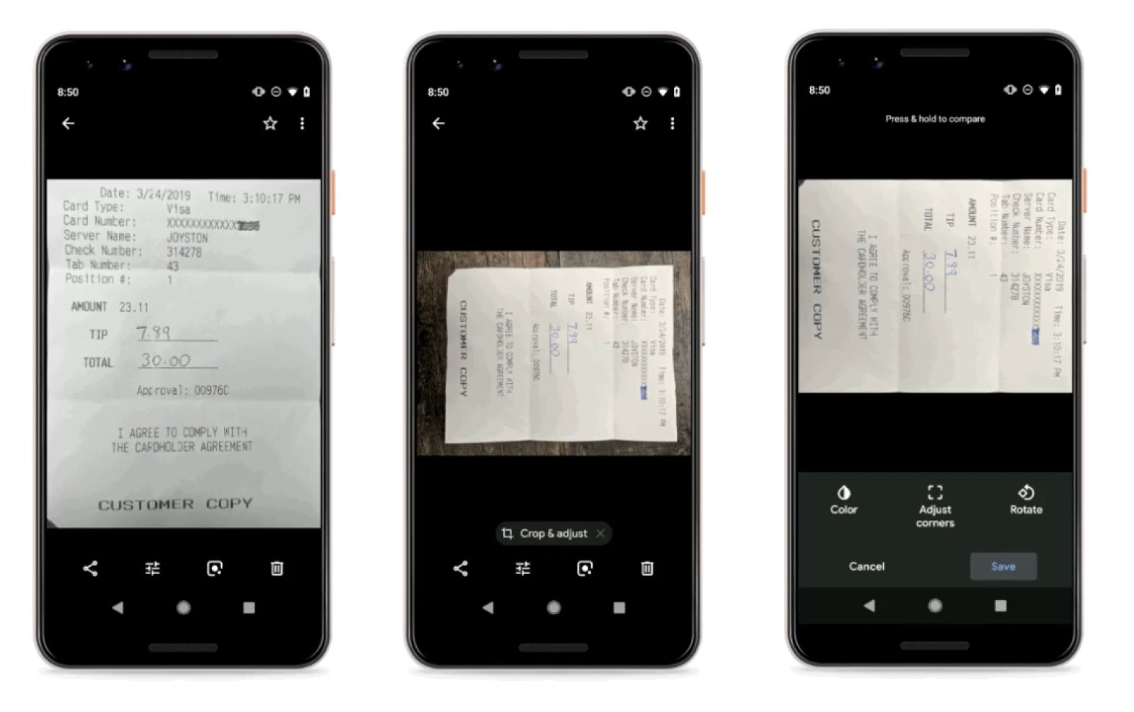 Google Photos makes it easier to take clear pictures of receipts | DeviceDaily.com