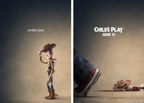 """Chucky is out for Woody's blood in this cheeky """"Child's Play"""" poster   DeviceDaily.com"""