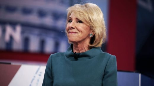 During Betsy DeVos's first year in office, her family fund gifted millions to conservative groups