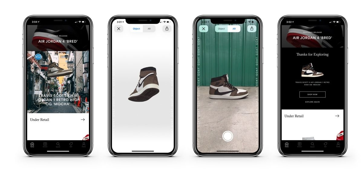 GOAT lets you preview sneakers in AR before they launch | DeviceDaily.com