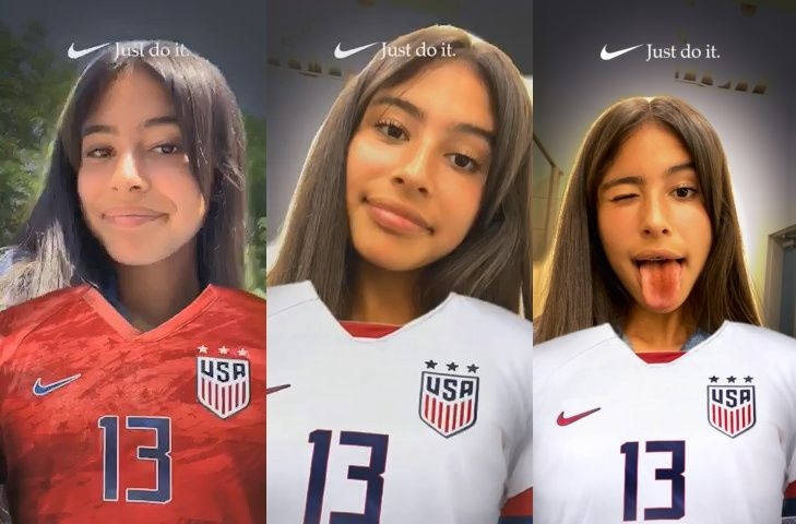 Nike latest Snapchat Lens shows support for USWNT | DeviceDaily.com