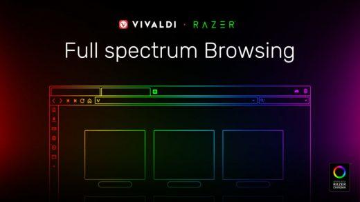 Vivaldi browser syncs Razer Chroma lights with website colors