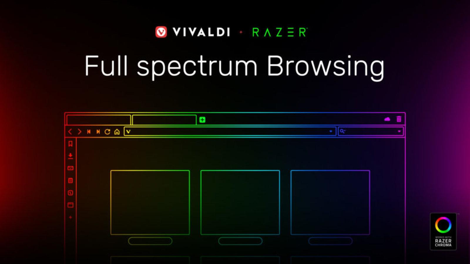 Vivaldi browser syncs Razer Chroma lights with website colors   DeviceDaily.com
