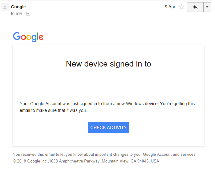 Gmail Sends Sign-In Alerts -- By Mistake | DeviceDaily.com