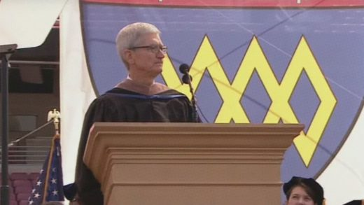 """Watch Tim Cook warn Stanford graduates of the """"chilling effect of digital surveillance"""""""