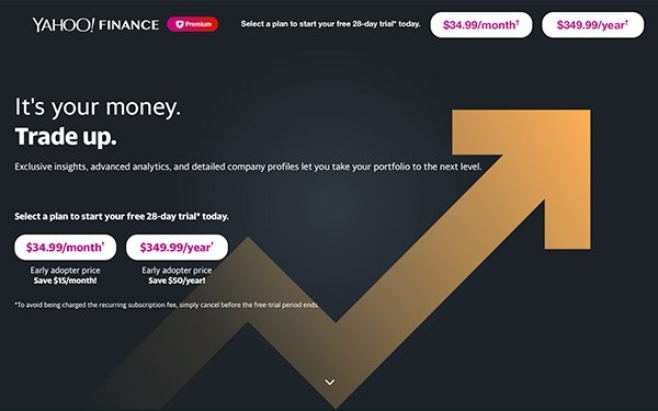 'Yahoo Finance' Launches Subscription Product For Retail Investors | DeviceDaily.com