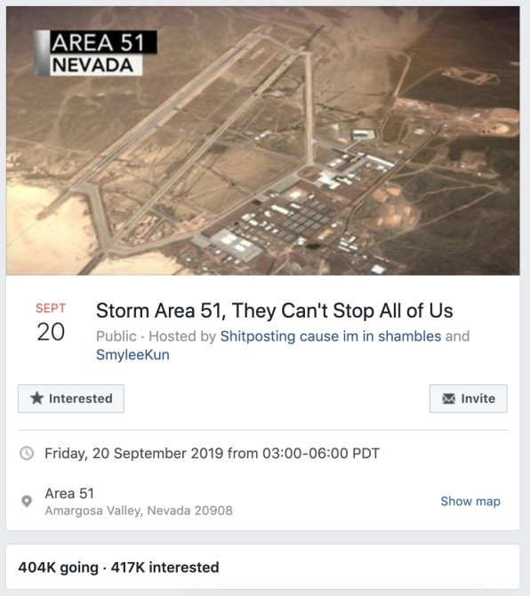 400,000 people have joined a Facebook event pledging to raid Area 51 | DeviceDaily.com