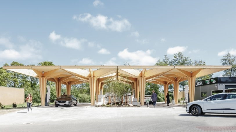 These beautiful electric charging points are the gas station of the future | DeviceDaily.com