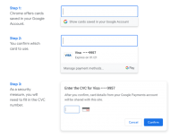 Chrome lets users pay with credit cards saved in their Google accounts