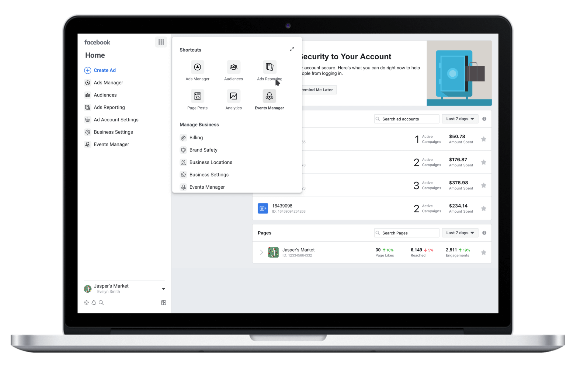 Facebook Business Manager redesign with bulk permissions management