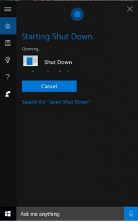 How to Restart or Shut down Windows 10 PC Using Cortana