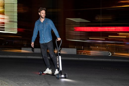 Audi's E-Tron Scooter is a skateboard with a handle