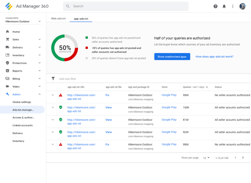Google Ad Manager, AdMob add support for app-ads.txt, to start blocking unauthorized ad serving for publishers this month | DeviceDaily.com