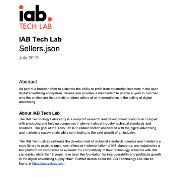 IAB Tech Lab Releases New Specs For Fighting Ad Fraud | DeviceDaily.com