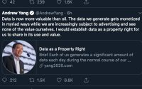 Presidential Hopeful Andrew Yang Touting Data As A Property Right