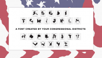 The world's most revolting font is made out of gerrymandered voting districts