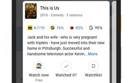 Google Now Recommends TV Shows, Movies Based On Data You Feed Its Algorithms