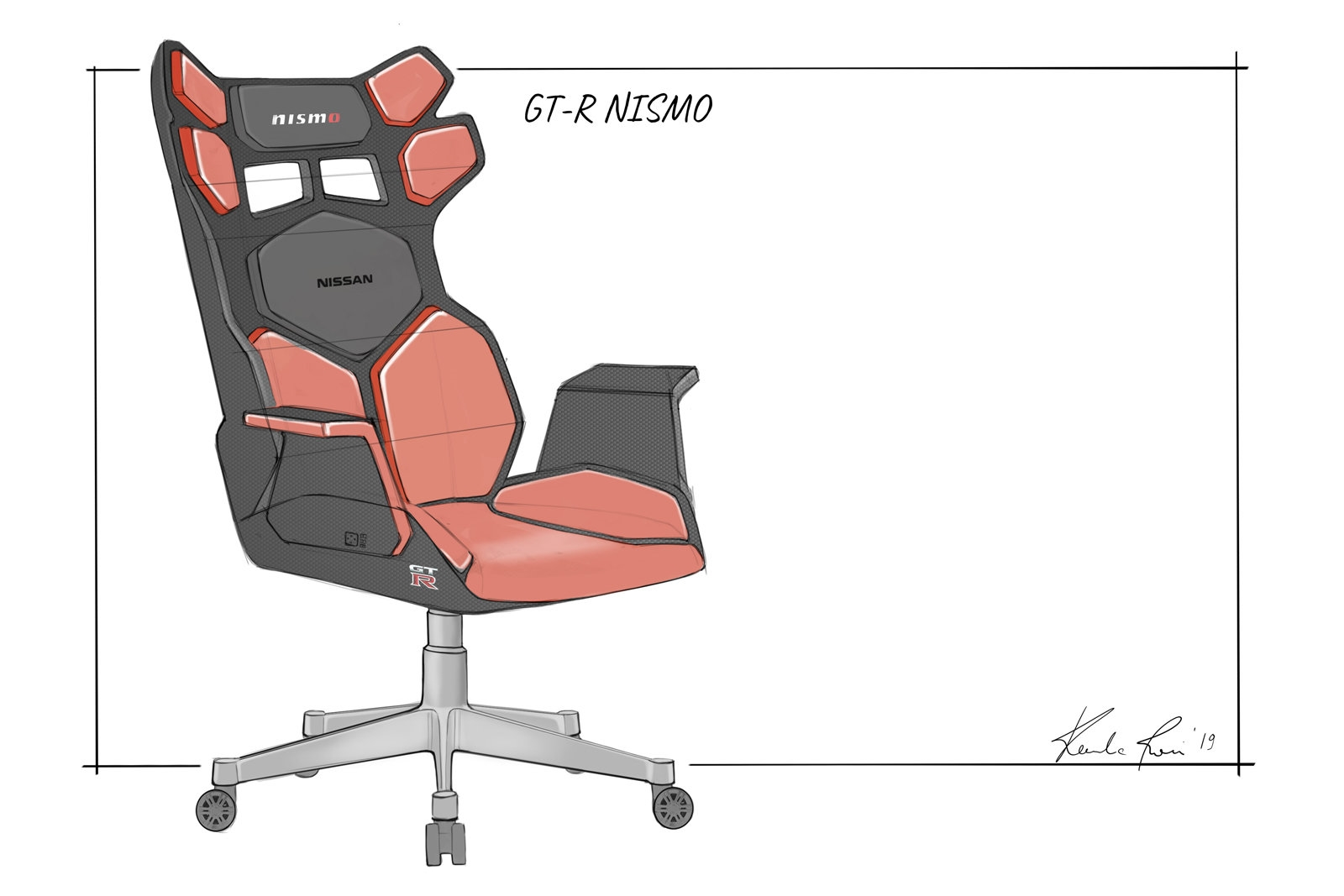 Nissan envisions car-themed esports gaming chairs | DeviceDaily.com