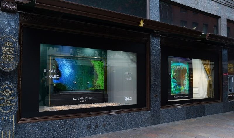 LG puts its transparent OLED TVs in Harrods windows | DeviceDaily.com