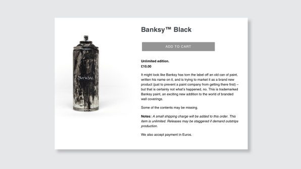 Prices start at $13 at Banksy's store, if you can answer a simple question   DeviceDaily.com
