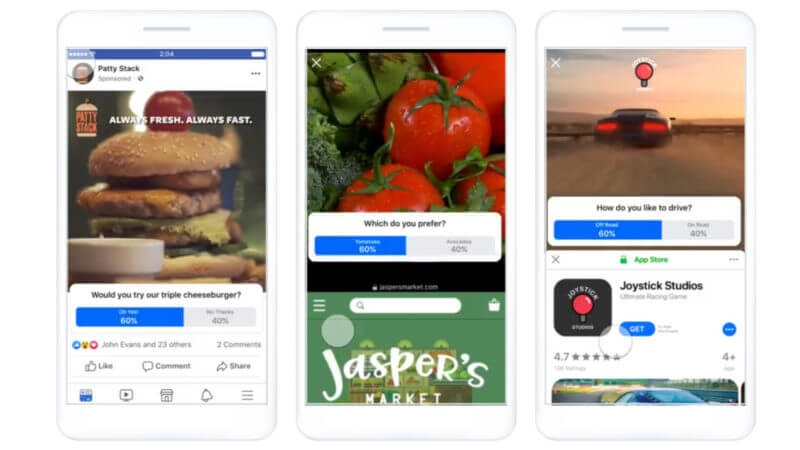 Facebook rolls out new video poll ads, set to open AR Ads to all advertisers   DeviceDaily.com