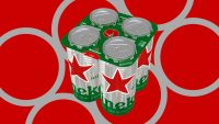 If you buy a pack of Heineken in the U.K., it won't have plastic rings anymore